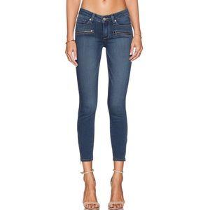 Paige Jane zip crop denim skinny jeans nwot